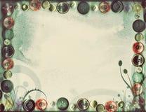 Красивый флористический ретро цветок Grunge предпосылки весны Стоковые Фотографии RF