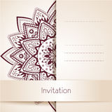 Красивый флористический шаблон карточки, иллюстрация вектора иллюстрация штока