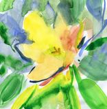 Красивый цветок акварели самана коррекций высокая картины photoshop качества развертки акварель очень Стоковая Фотография