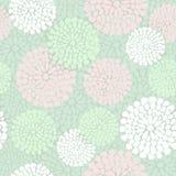 Красивый цветочный узор в пинке и цвете мяты, Стоковые Изображения RF