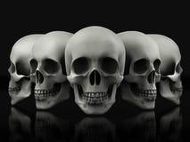 Красивый череп сделанный из текстурированного металла Стоковые Фотографии RF