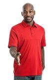 Красивый чернокожий человек тряся руки стоковые фото