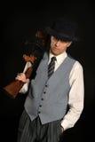 Красивый человек гангстера Стоковые Фото