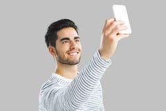Красивый человек делая selfie Стоковая Фотография RF