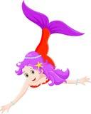 Красивый шарж русалки Стоковое Изображение