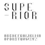 Красивый шрифт Sans Serif в uppercase Стоковые Фото