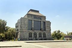 Красивый экстерьер дневного времени Museo Anahuacalli Стоковые Изображения