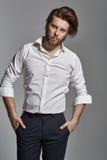 Красивый элегантный человек с бородой Стоковые Изображения