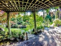 Красивый японский сад на парке Manito в Spokane, моя стоковая фотография