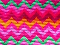 Красивый яркий орнамент на ткани стоковая фотография rf