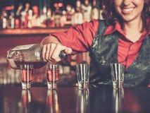 Красивый barmaid redhead стоковое фото rf