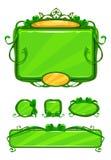 Красивый girlish зеленый пользовательский интерфейс игры Стоковые Фото
