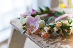 Красивый handmade флористический венок Стоковое фото RF