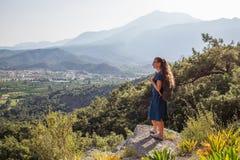 Красивый Hiker на lycian пути Стоковые Изображения