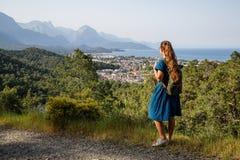Красивый Hiker на lycian пути Стоковое Изображение RF