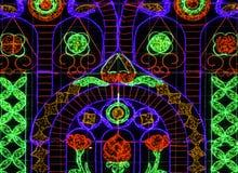 Красивый multicolor украшения светов Стоковое Изображение