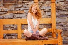 Красивый redhead в природе Стоковое фото RF