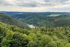 Красивый Saxon Швейцария леса Стоковое Изображение