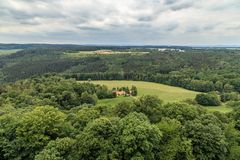 Красивый Saxon Швейцария леса Стоковые Изображения RF