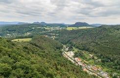 Красивый Saxon Швейцария леса Стоковые Изображения