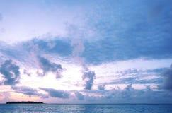 Красивый seascape в вечере Стоковое Фото