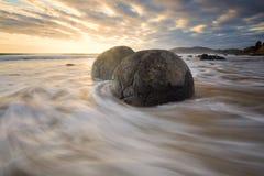 Красивый seascape в восточном побережье Новой Зеландии Стоковое Изображение