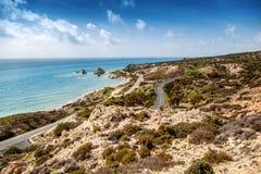 Красивый seascape, голубое море и небо, популярное назначение для su стоковая фотография