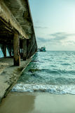Красивый seascape под временем солнечности Стоковое фото RF