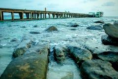 Красивый seascape под временем солнечности Стоковые Фото