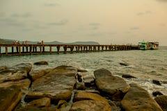 Красивый seascape под временем солнечности Стоковые Фотографии RF