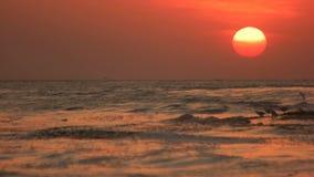 Красивый seascape с заходом солнца