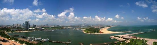 Красивый seashore Китая Шаньдуна Стоковые Фотографии RF