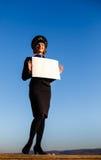 Красивый stewardess молодой женщины Стоковое Изображение RF