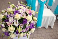 Красивый wedding вверх по украшению на церемонии Стоковые Изображения