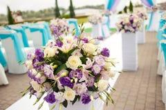 Красивый wedding вверх по украшению на церемонии Стоковые Фото