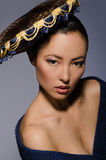 Красивым волосы окаимленные азиатом стоковое изображение rf
