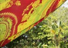Красивым ткань напечатанная батиком 2 Стоковая Фотография RF