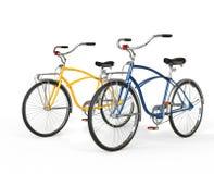 2 красивых винтажных велосипеда Стоковые Изображения
