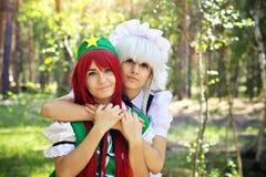 2 красивых девушки в парке Стоковая Фотография RF