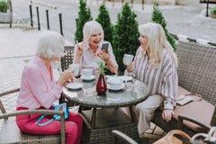 3 красивых женщины имеют потеху совместно стоковые фотографии rf
