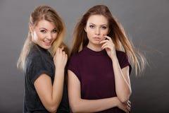 2 красивых представлять женщин, блондинкы и брюнет Стоковые Изображения