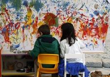 Красить детей Стоковое фото RF