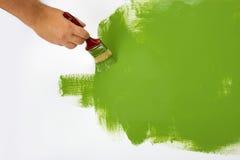 Красить зеленый цвет стены Стоковое Изображение RF
