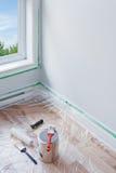 Красить комнату Стоковые Изображения RF