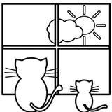 красить котов иллюстрация штока