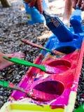 Красить малышей Стоковое Изображение