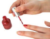 красить ногтей Стоковые Изображения RF