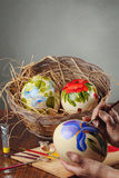 Красить пасхальных яя стоковое изображение rf