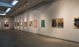 Красить показывать в художественной галерее Стоковые Фото