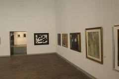 Красить показывать в художественной галерее Стоковые Фотографии RF
